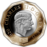 One Pound dodecagonal Charles III